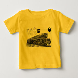 Baldwin-Pennsylvania Railroad T-1 Steam Locomotive Baby T-Shirt
