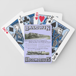 Baldwin Steam Locomotive Mountain Type in 1924 Bicycle Playing Cards