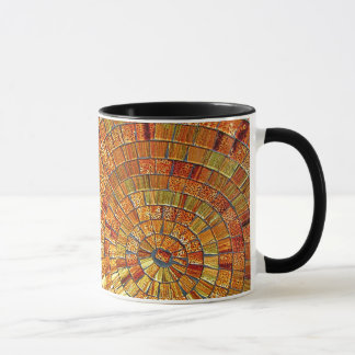 Balinese Glass Tile Art - Brown Mug