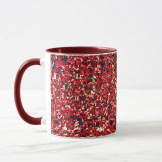 Balinese Glass Tile Art - Red Mug