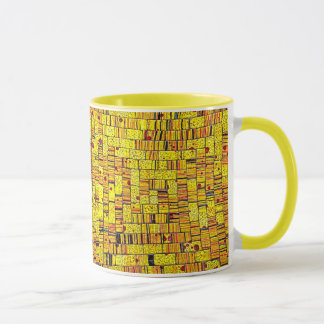 Balinese Glass Tile Art - Yellow Mug