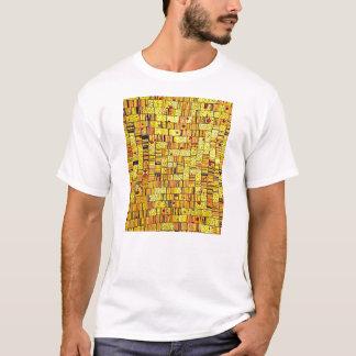 Balinese Glass Tile Art - Yellow T-Shirt