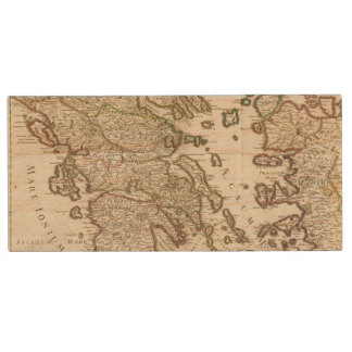 Balkan Peninsula, Greece, Macedonia Wood USB 2.0 Flash Drive