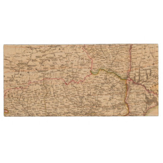Balkan Peninsula, Turkey, Romania Wood USB 2.0 Flash Drive