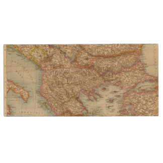 Balkanhalbinsel - Balkan Peninsula Map Wood USB 2.0 Flash Drive