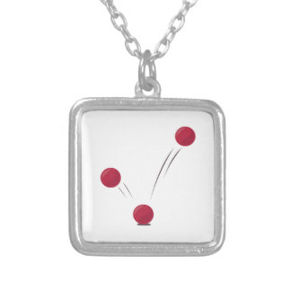 Ball Bounce Square Pendant Necklace