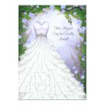 Ball Gown Party Dress Purple Rose Quinceanera 13 Cm X 18 Cm Invitation Card