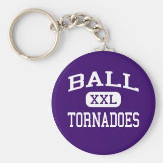 Ball - Tornadoes - High School - Galveston Texas Key Ring