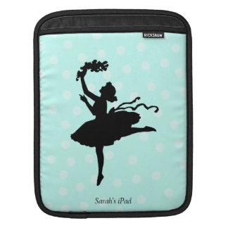 Ballerina and Aquamarine Dots iPad Sleeve