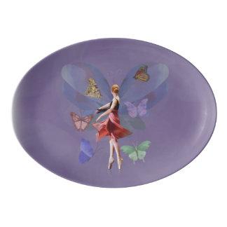 Ballerina and Butterflies Porcelain Serving Platter