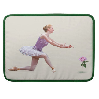 Ballerina and Pink Rose Sleeve For MacBook Pro