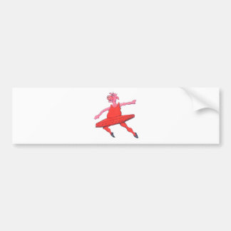 Ballerina Cow Bumper Sticker