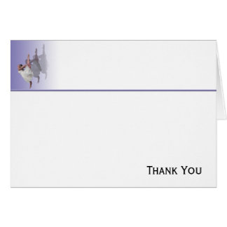 Ballerina Dancer Shadows on Purple Card