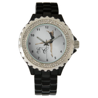 Ballerina in Black and Silver with Numerals Watch