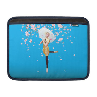 Ballerina in Cherry Blossoms Sleeve For MacBook Air