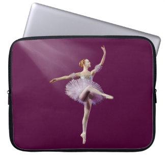 Ballerina in Purple and White Customizable Laptop Sleeve