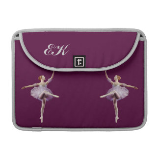 Ballerina in Purple and White Customizable Sleeve For MacBooks