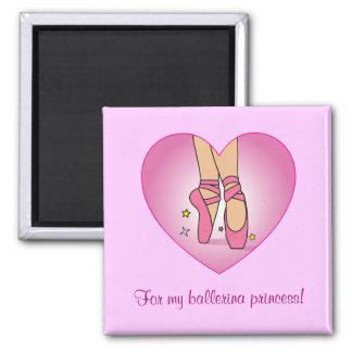 Ballerina Princess: Ballet Shoes in Heart Magnets