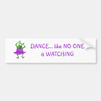 Ballerina Purple Tutu Dancing Frog Bumper Sticker