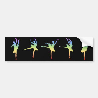 Ballerina - Rainbow 1 Bumper Sticker