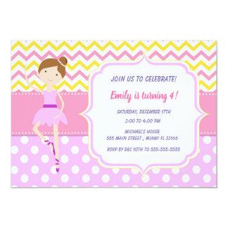 Ballerins Girl Birthday Party Invitation