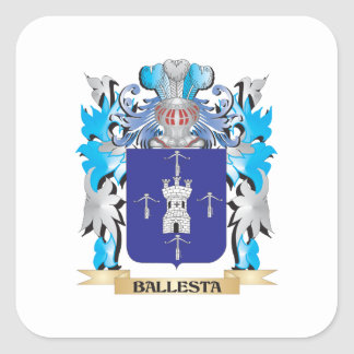 Ballesta Coat of Arms Square Stickers