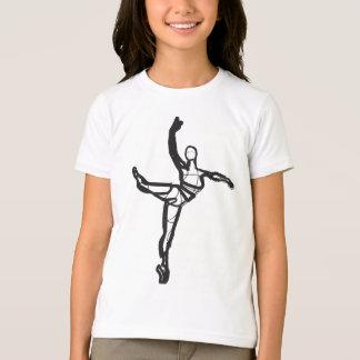 Ballet Dance Ringer Tee (Girls)
