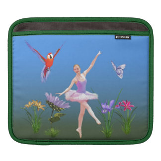 Ballet Fantasy, Flowers, Parrot, Butterfly iPad Sleeve