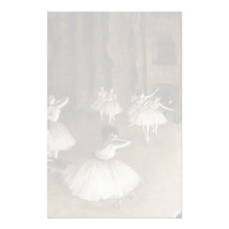 Ballet Rehearsal On Stage by Edgar Degas Personalized Stationery
