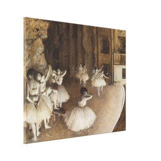 Ballet Rehearsal on Stage   Edgar Degas Canvas Print