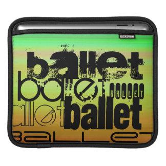 Ballet; Vibrant Green, Orange, & Yellow iPad Sleeve