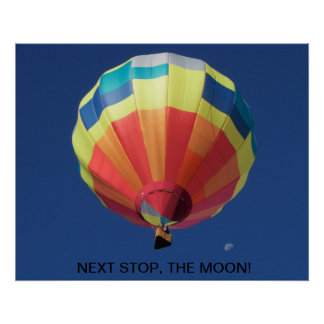 Balloon Flight To The Moon Posters