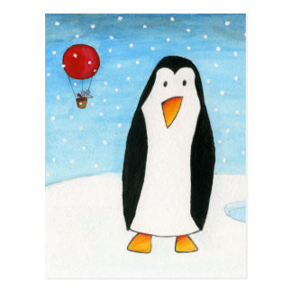 Balloon Mouse & Penguin #2 Postcard