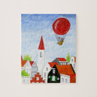 Balloon Mouse & Roofs Puzzle