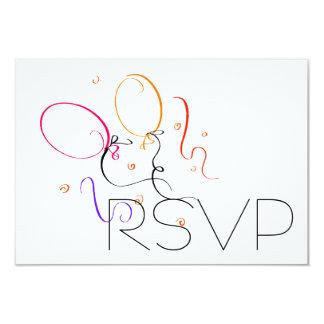 Balloons RSVP Card