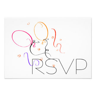 Balloons RSVP Personalized Announcement