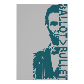 Ballot > Bullet Poster