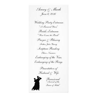 """Ballroom Couple"" Wedding Programs Rack Card"