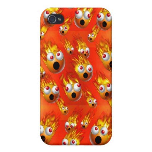 balls of fire cover for iPhone 4