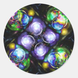 Balls of Fire Round Sticker