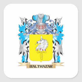 Balthazar Coat of Arms Square Sticker