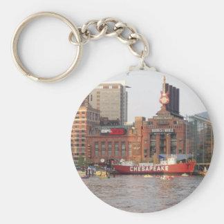 Baltimore Harbour Basic Round Button Key Ring
