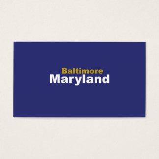 Baltimore, Maryland Business Cards