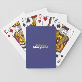 Baltimore, Maryland Playing Cards