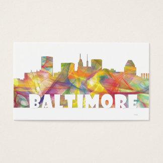 BALTIMORE MARYLAND SKYLINE MCLR2 BUSINESS CARD