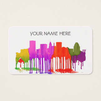 BALTIMORE MARYLAND SKYLINE PUDDLES - BUSINESS CARD