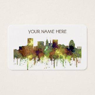 Baltimore Maryland Skyline  Safari Buff Business Card