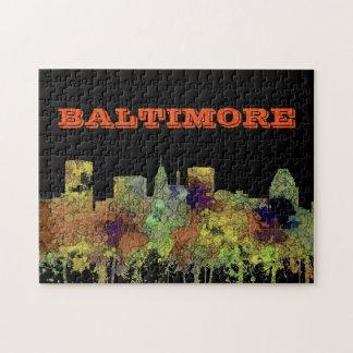 Baltimore Maryland Skyline  Safari Buff Jigsaw Puzzle
