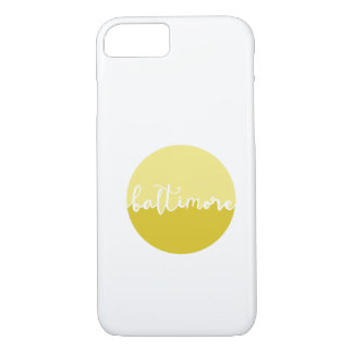 Baltimore, Maryland | yellow ombre calligraphy iPhone 8/7 Case
