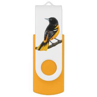 Baltimore Oriole Bird USB 32GB Flash Drive Swivel USB 3.0 Flash Drive